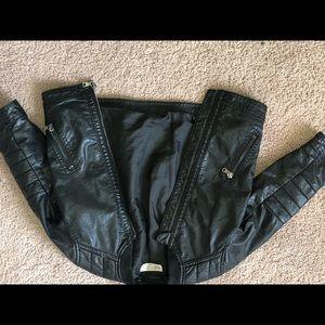 Toddler leather biker jacket
